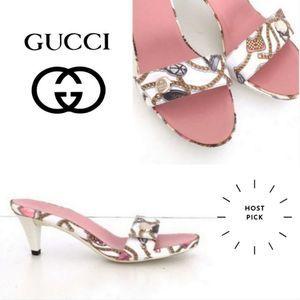 Gucci authentic vintage satin sandals sz 7.5 GUCCI